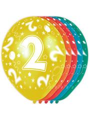 Ballonnen Verjaardag 2 Jaar - 5stk