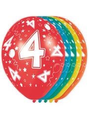 Ballonnen Verjaardag 4 Jaar - 5stk