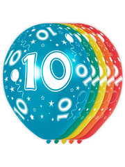 Ballonnen Verjaardag 10 Jaar - 5stk