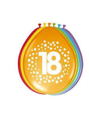 Ballonnen 18 Jaar Stippen