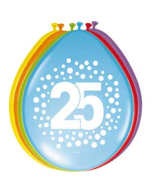 Ballonnen 25 Jaar Stippen