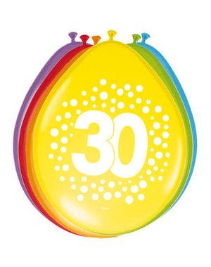 Ballonnen 30 Jaar Stippen