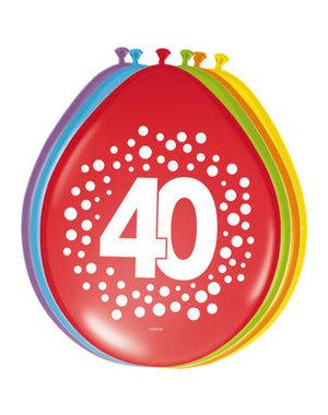 Ballonnen 40 Jaar Stippen