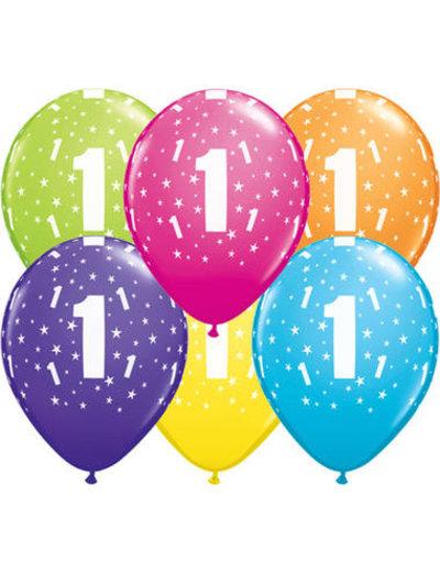 Ballonnen  Assorti 1 Jaar - 25stk
