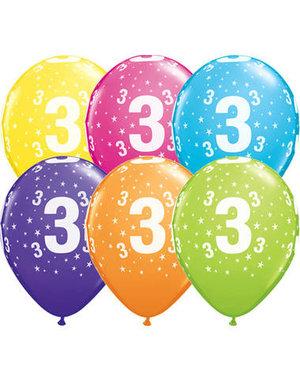 Ballonnen  Assorti 3 Jaar - 25stk