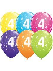 Ballonnen  Assorti 4 Jaar - 25stk