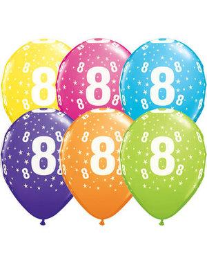 Ballonnen  Assorti 8 Jaar - 25stk