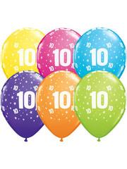Ballonnen  Assorti 10 Jaar - 25stk