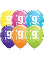 Ballonnen  Assorti 9 Jaar - 25stk