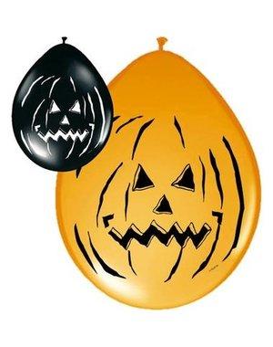 Ballonnen Halloween Pompoen - 8stk