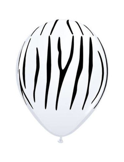 Ballonnen Zebra 28cm - 25stk