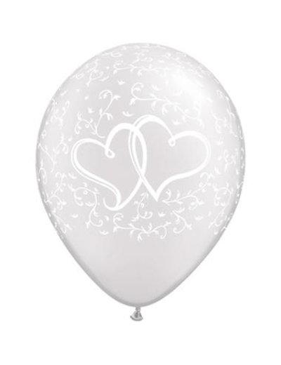 Ballonnen Hartjes Parel 28cm - 25stk