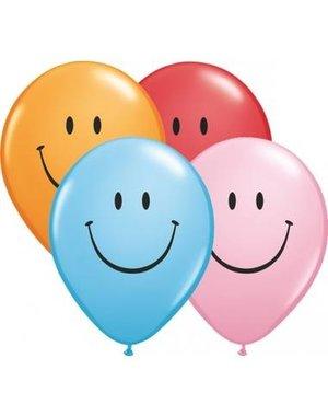 Ballonnen Smiley Assorti 28cm - 100stk