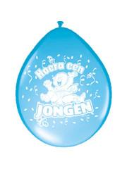 Ballonnen Hoera een Jongen - 8stk