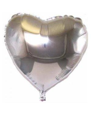 Folieballon Hart Zilver