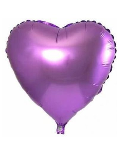 Folieballon Hart Lila