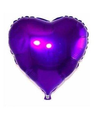 Folieballon Hart Paars