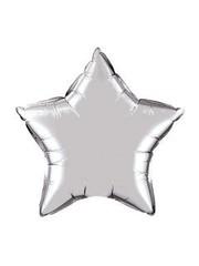 Folieballon ster Zilver - 1, 10, 50stk