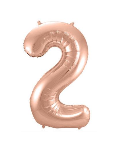 Folieballon Rosé Goud Cijfer 2