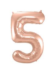Folieballon Rosé Goud Cijfer 5