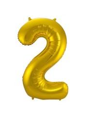 Folieballon Goud Cijfer 2