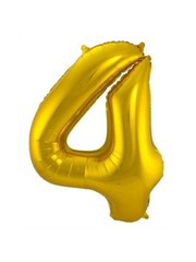Folieballon Goud Cijfer 4