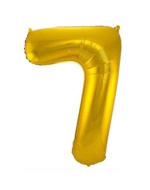 Folieballon Goud Cijfer 7