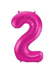 Folieballon Magenta Roze Cijfer2