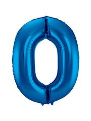 Folieballon Blauw Cijfer 0