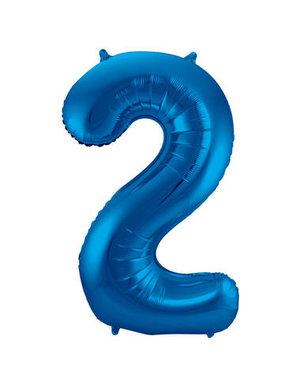 Folieballon Blauw Cijfer 2