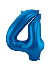 Folieballon Blauw Cijfer 4
