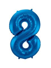 Folieballon Blauw Cijfer 8