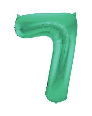 Folieballon Mat Groen Cijfer 7