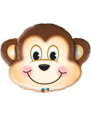 Folieballon Monkey face