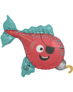 Folieballon Piraten Vis