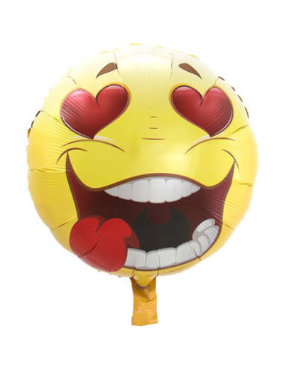 Folieballon Emoticon Love - 45cm