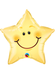 Folieballon Smiley Star - 51cm