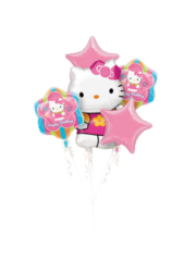 Folieballon Boeket Hello Kitty
