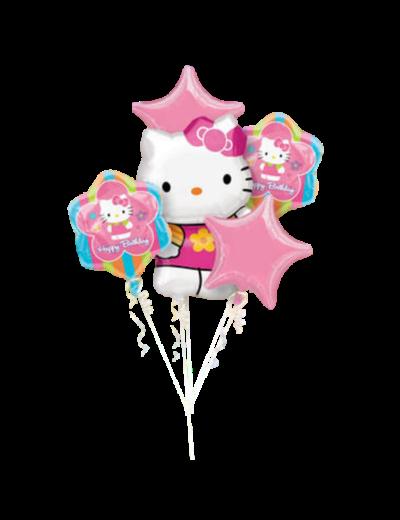 Folieballon Boeket Hello Kitty
