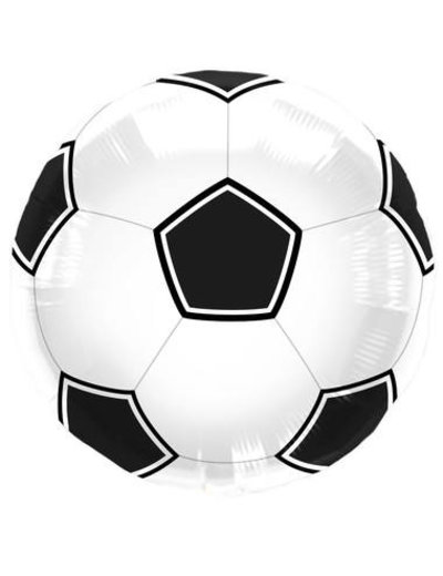 Folieballon Voetbal Zwart/Wit - 43cm