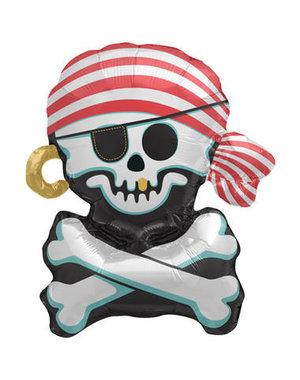 Folieballon Piraten Skelet