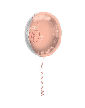 Elegant Lush Blush Folieballon - 40 Jaar