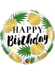 Folieballon  Happy Birthday Ananas - 45cm