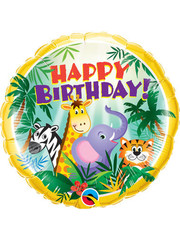 Folieballon  Happy Birthday  Jungle - 45cm