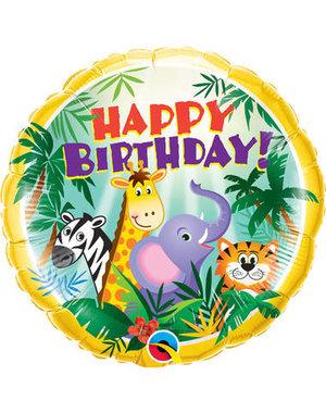 Folieballon  Happy Birthday  Jungle - 45cm