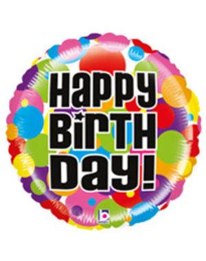 Folieballon  Happy Birthday  - 51cm