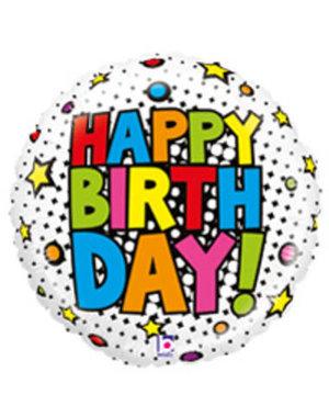 Folieballon  Happy Birthday Cartoon  - 53cm