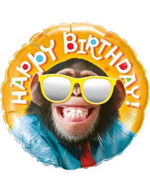 Folieballon Happy Birthday Chimp - 46cm