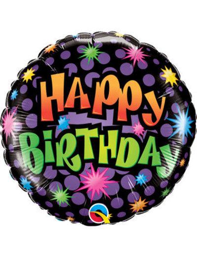 Folieballon Happy Birthday Disco - 45cm