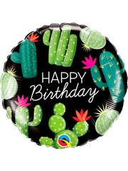 Folieballon Happy Birthday Cactus - 45cm
